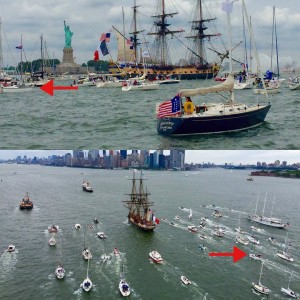 Tall Ship Hermione, Flotlla Parade, NYC Harbour