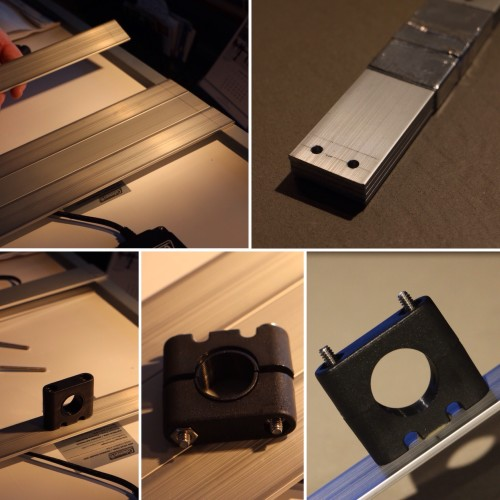 Support Strips and Rail Mount Brackets